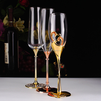 Glassware factories metal champagne flutes for wedding