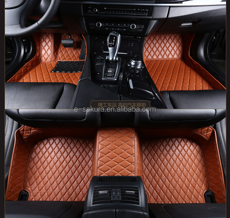 High elastic XPE and thick leather car matsather car mats for Zhonghua V5