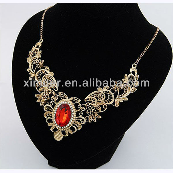Chunky Necklace 2013,Crystal necklaces,China costume Jewelry