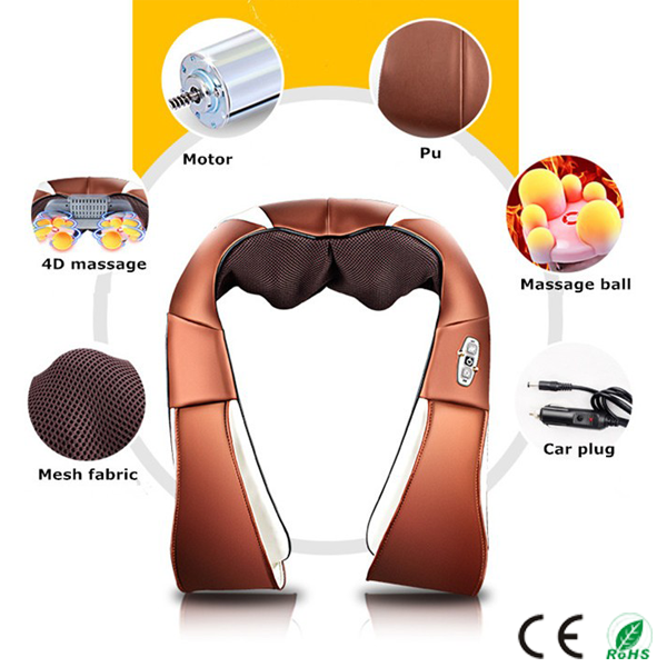 Hotselling New Shiatsu kneading neck and shoulder massage belt with infrared heat