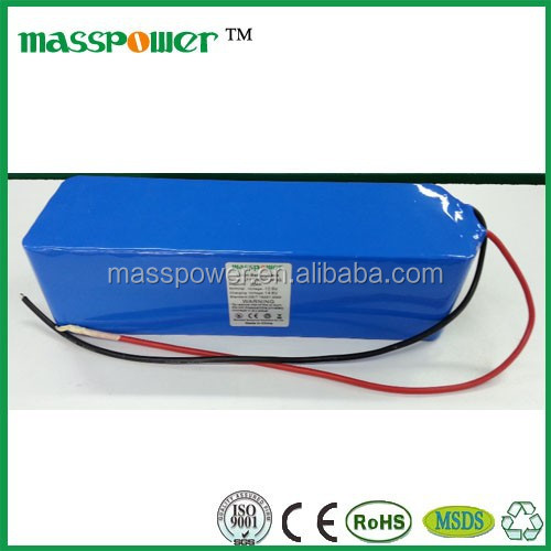Large capacity rechargeable 24V lithium ion battery 50ah