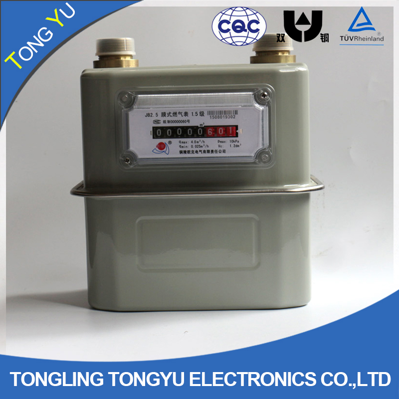 steel case g1.6 /g 2.5 / g4 / g6 remote reading gas meter
