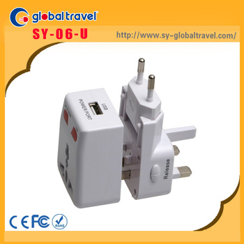 Promotional Gifts Items Multi Plug Usb Travel Adapter For Usa And ...