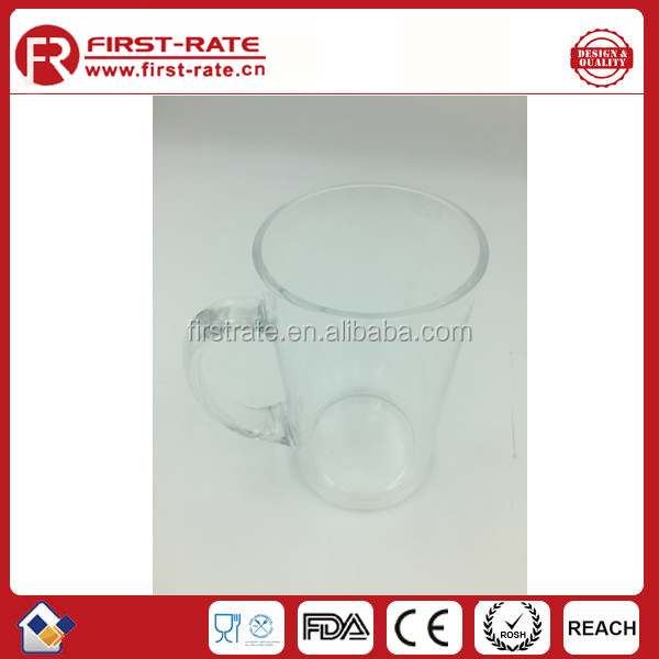 Bpa free 650ML plastic cup with handle