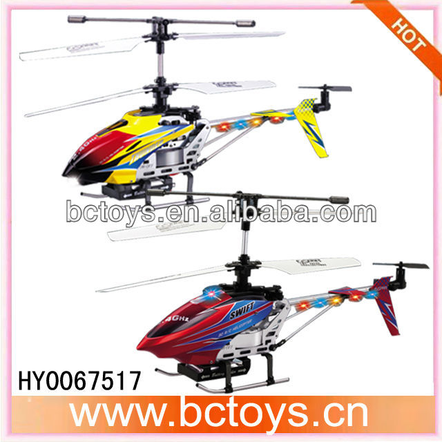 New triple side fly 2.4G 4ch alloy series rc helicopter wholesaler with gyro.