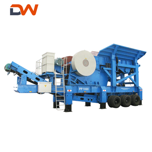gravel quarry construction stone concrete recycle recycling equipment mobile jaw crushing plant machine supplier