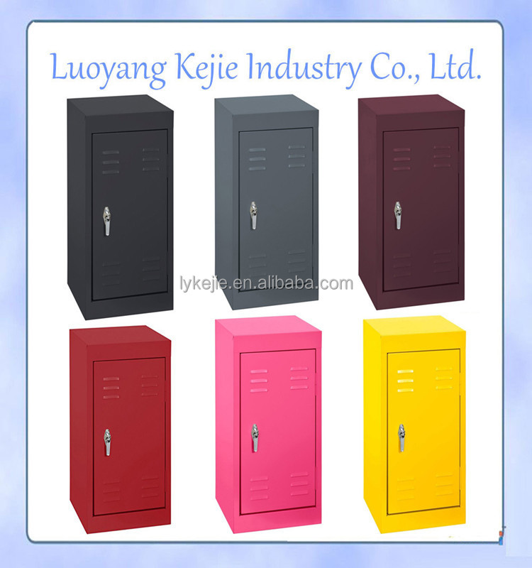 Single Door Steel Cabinet Lockers Locker For School Students Black 1 Doors Metal  Locker Cabinet
