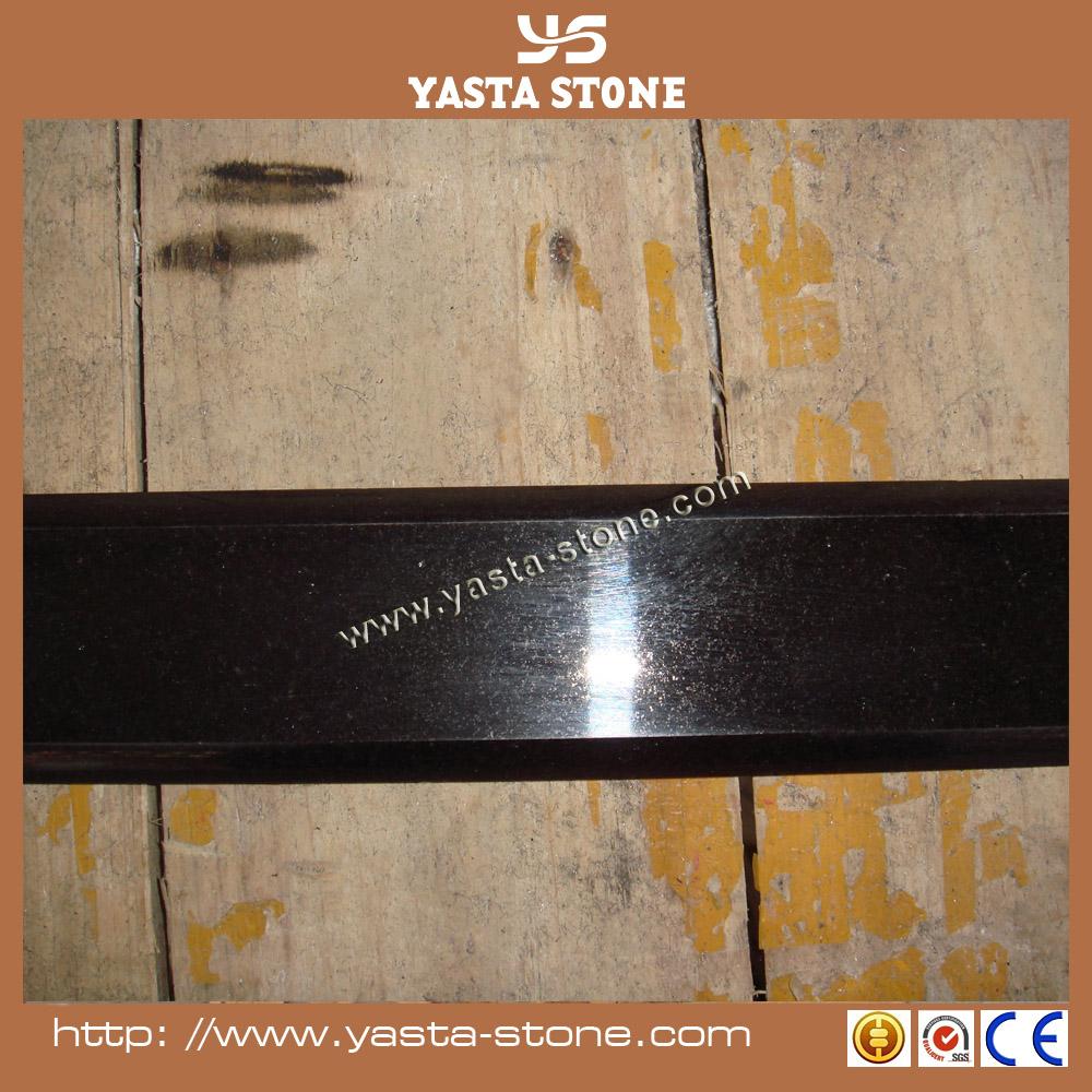 Gepolijst waterdichte zwart graniet deur drempel voor badkamer ...