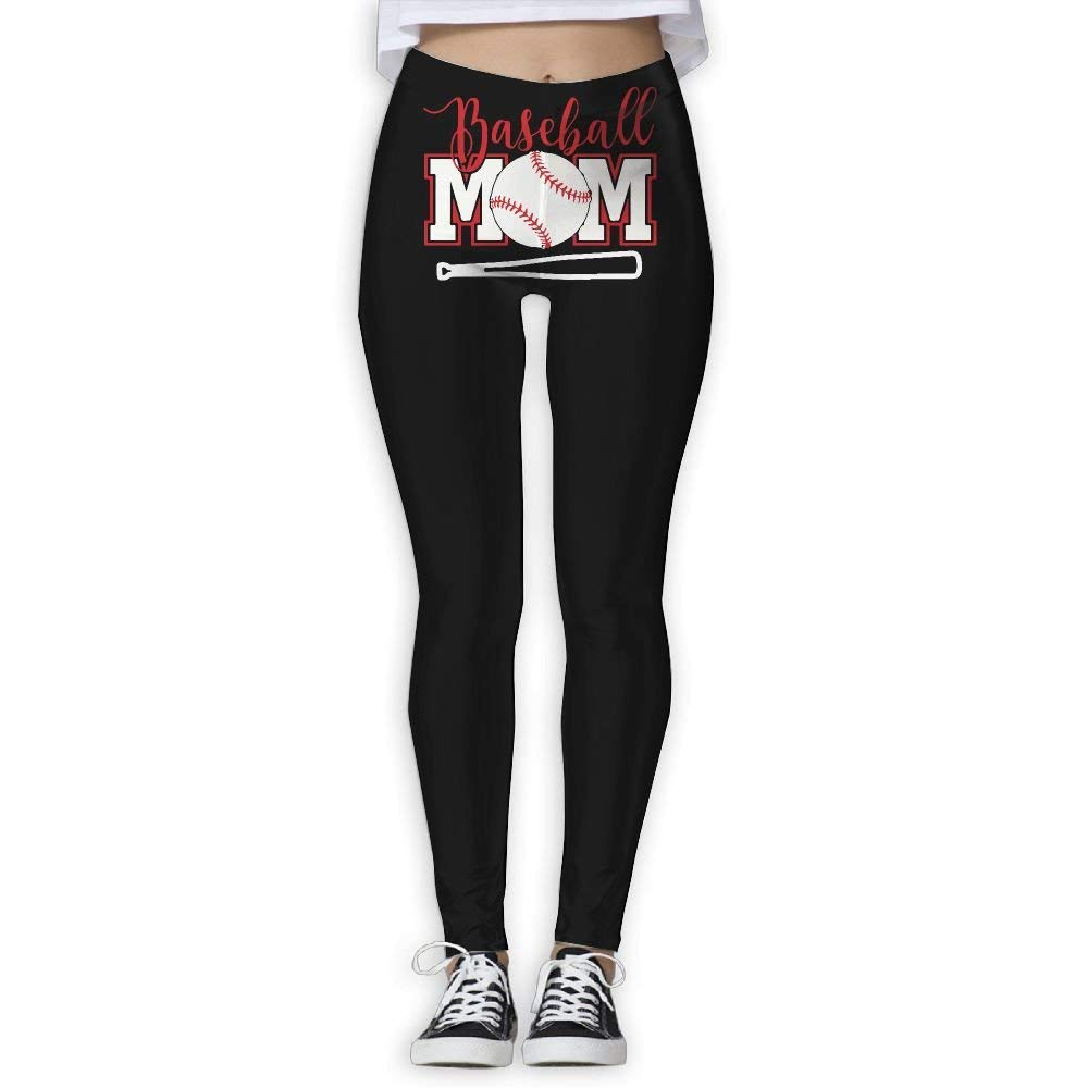 3b15c954ea6 Get Quotations · DDCYOGA Baseball Mom Womens Fold Over Yoga Leggings Dance  Athletic Sport Leggings For Girls