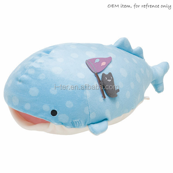 Cute Large Whale Shark Plush Toy Cartoon Soft Stuffed Animals