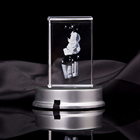 Engraving Clear Blank/crystal Block Laser Etched Block//crystal Trophy Arch 3d Led Light Crystal Clock