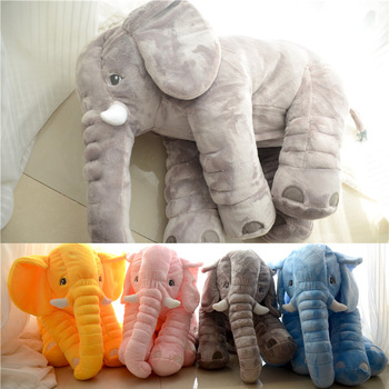 Animal Shaped Wholesale Baby Elephant Shaped Pillow 60CM Baby Kids Elephant Pillow