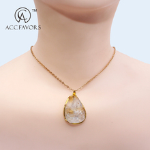 china made natural stone charm pendant necklace jewelry wholesale