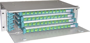 19'' 12 24 36 48 72 96 144 Ports Fiber Optic Patch Panel Rack Mount ODF with or without Adapter