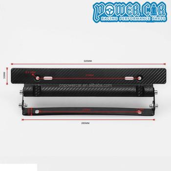 JDM Adjustable License Plate Frame Carbon License Plate Holder & Jdm Adjustable License Plate Frame Carbon License Plate Holder - Buy ...