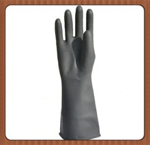 Double-Color balck Industry rubber working gloves