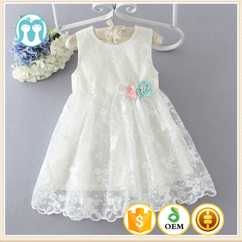 Childrens Clothing One Piece Party Girls Dress Embroidery Designs