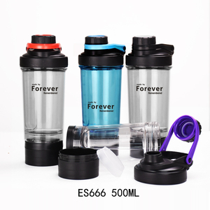 ES666 500ml/17oz Plastic protein shaker bottle with new mix ball