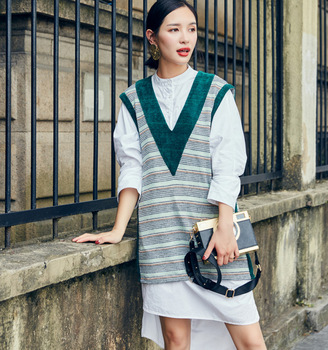 V Neck Fashion Pluz Size Active Wear Women Lady Sweaters Vest