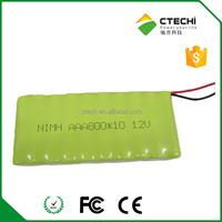 12v nimh AAA 800mah rechargeable battery pack AAA800*10