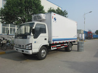 3-8tons thermo king refrigerated small trucks/cooling van truck/dongfeng refrigerator truck Manufacturers