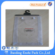 Hook Pvc Clear Blanket Plastic Packaging Bag With Button
