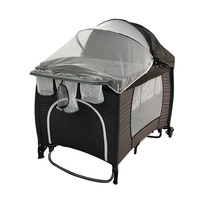 New fashion travel baby sleeping crib / playpens baby playpen with canopy / baby cot with wheels