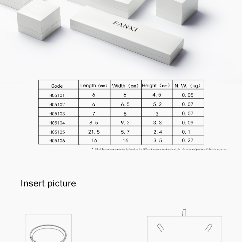 FANXI Creative Design Jewelry Storage And Display Boxes With Leather Insert Customized Leather Jewelry Box