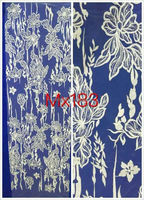 Handmade embroidery designs african french lace for wedding dress