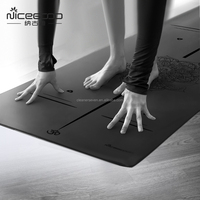 Private Label Fitness Mat Natural Rubber PU Yoga Mat with bag