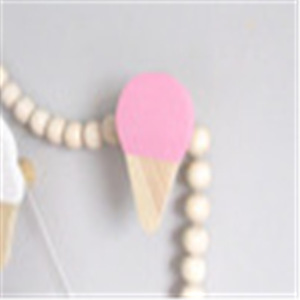 Ice cream shape decoration wooden hook for kids
