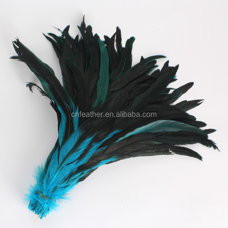Cheap sale Direct Dyed Rooster / Cock tail Feathers