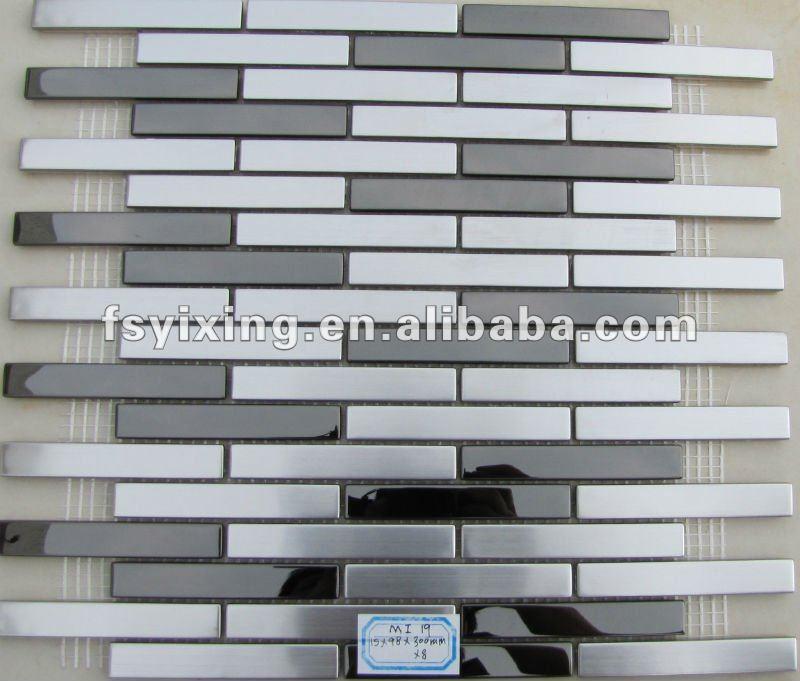 metallo mattonelle di mosaico di mattoni mi19 per decorativa in ... - Piastrelle Cucina Mosaico