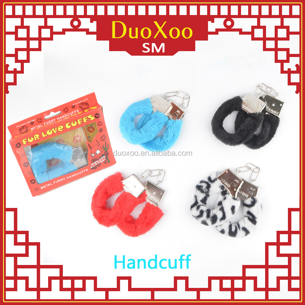 Sm toys plush metal handcuff teach bondage whore sexy man/woman adult shackle or fetter