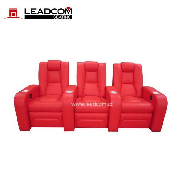 LEADCOM luxury leather home cinema sofa seating (LS-812)