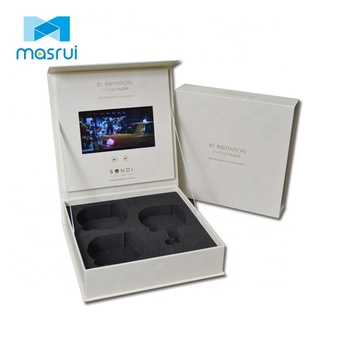 7 Inch Digital Lcd Display Video Brochure Gift Box For Product Presentation