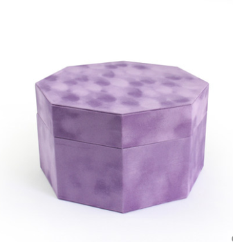 Free sample Originality Velvet octagonal gift box