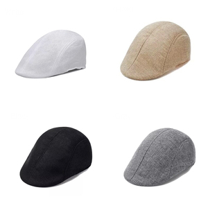 New Hat Summer Stylish Outdoors Modern Fashion Peaked Cap Flax Beret Cabbie