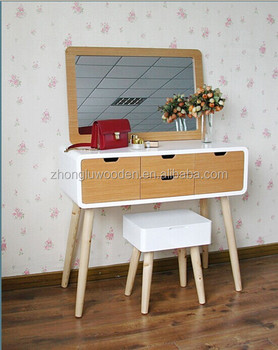 Charmant Modern Bedroom Furniture Vanity Make Up Table/ White Dresser With Stool
