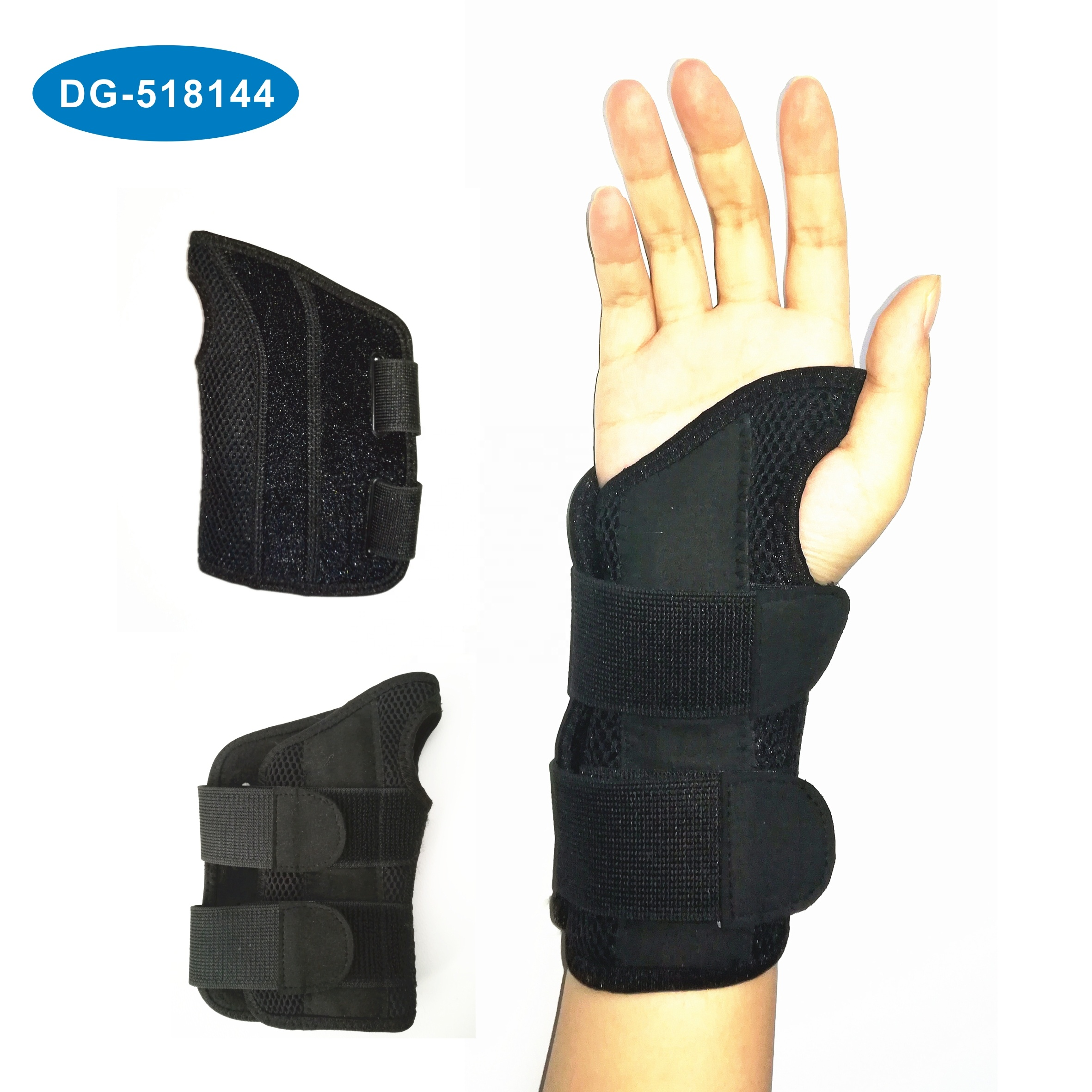 アマゾンの熱い販売手首の痛み、捻挫、手根管のための調節可能な右手手首の副木サポートブレース