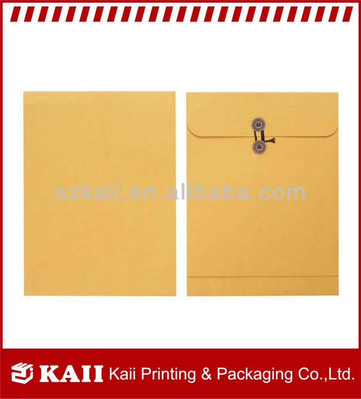 wholesale Clasp kraft paper Envelope factory price