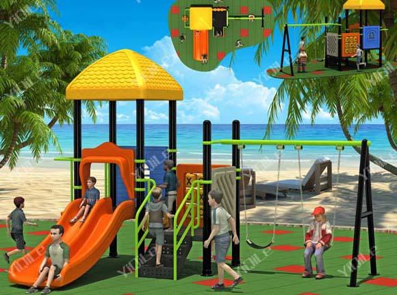 Luxury Garden Swing Set For Children Amusement Park