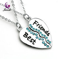 Jenia Best Friends 18K Gold Plated Crystal Necklace Fashion Pendant