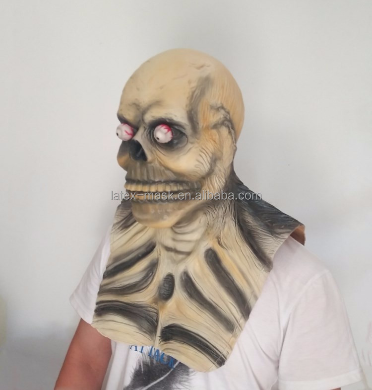 2017 new Design Hot Sale Canival Realistic Awesome Mask Full Head Rubber Latex Halloween Ghost Skull Mask