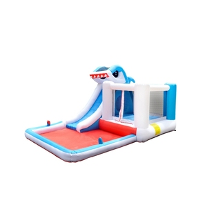 SS63001 Shark Air Bounce House Water Jumping Inflatable Bouncer Slide Bouncy Castle with Slide