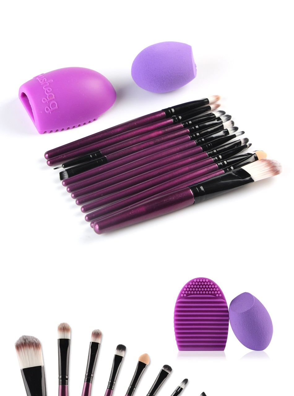 Colorful Maange 10 Pcs Ombre Rainbow Mermaid Makeup: Maange 14pcs Professional Makeup Kit Makeup Brush & Puff