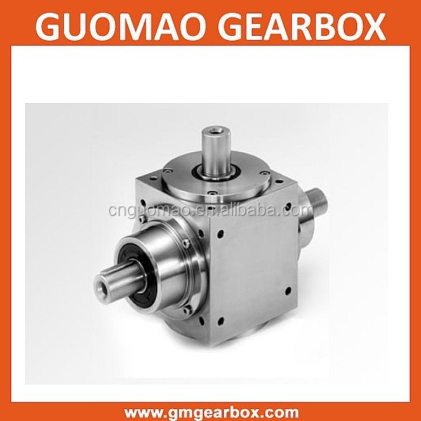China factory Low Noise & High Speed 90 Degree ratio 1:1 Spiral Bevel gearbox speed reductor
