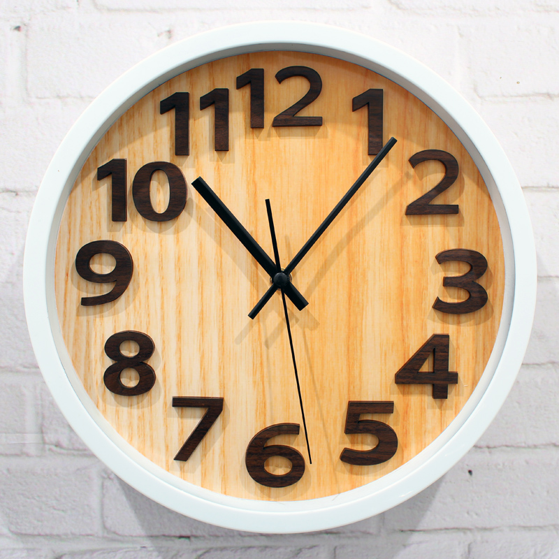 Modern European style wall clock,fashion creative quartz American minimalist stainless steel wrought iron wall clock,home decor