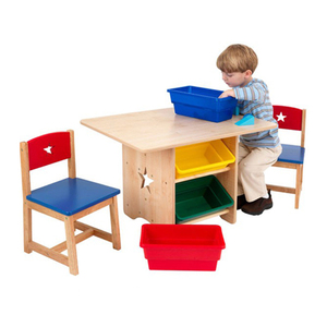 The Lowest Price Cheap Wood Material Kids Table And Chair Set With Cheap Price