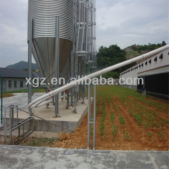 Automatic Equipment Chicken Egg House Galvanized Steel Poultry Farm